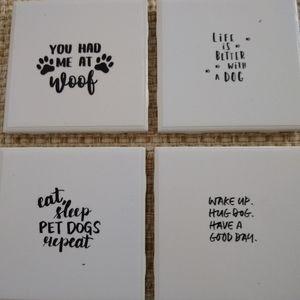 Dog, ceramic coasters, home decor